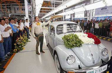 Last production of the first-generation Beetle.