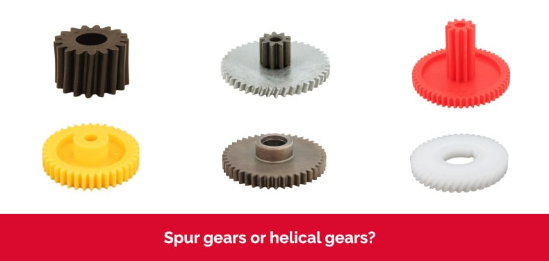 Spur gears or helical gears