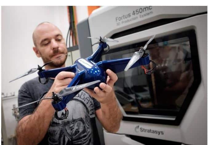Dron fabricado por impresión 3D
