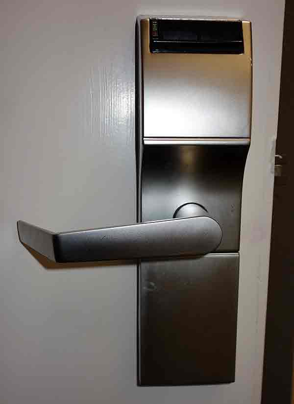 Cerradura electrónica hotel