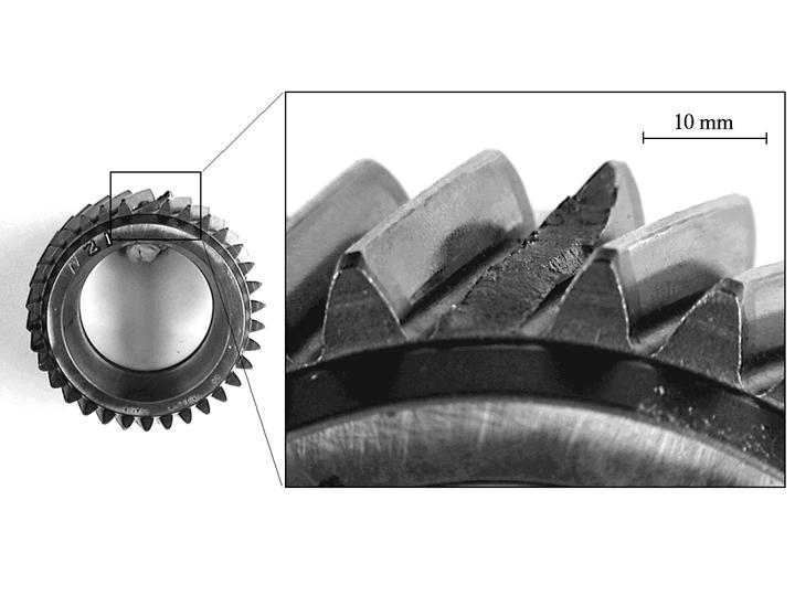 Engranaje rotura por fatiga