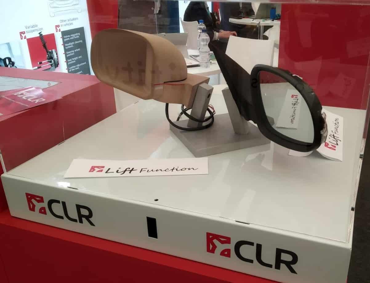 Lift technology power side-view mirror actuators